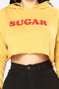Sugar Me Up Hoodie - Mustard/Red