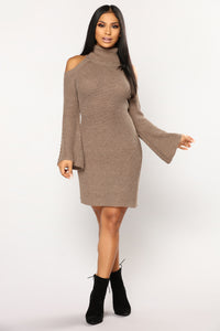 Amenity Sweater Dress - Mocha