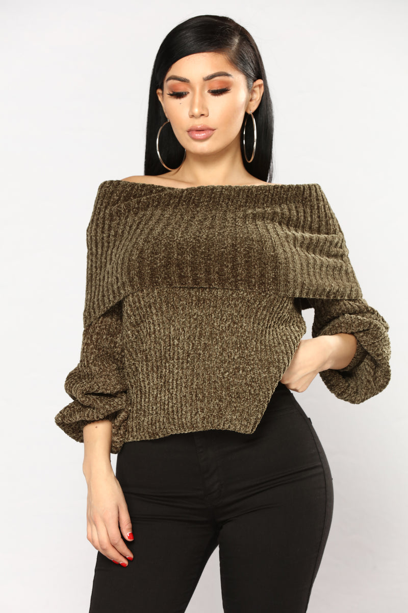 Juniper Oversized Sweater - Olive