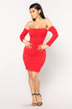Macau Ruched Dress - Red