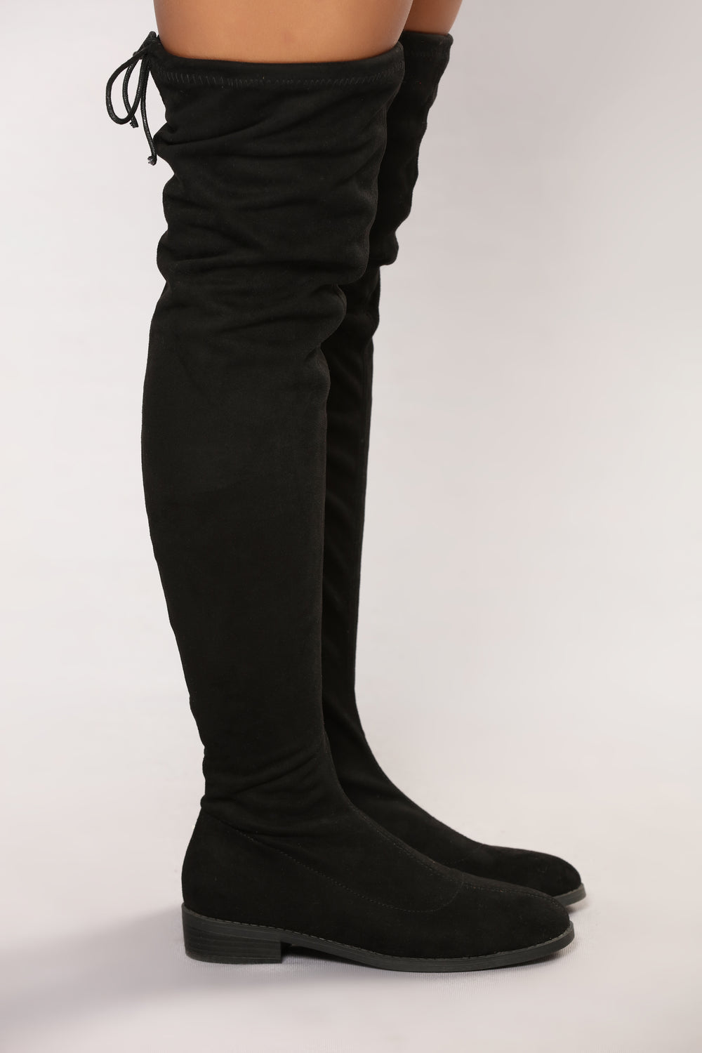 Stomp Statement Over The Knee Boot - Black