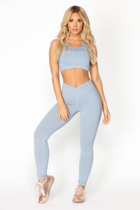 Pump It Up Active Leggings - Blue