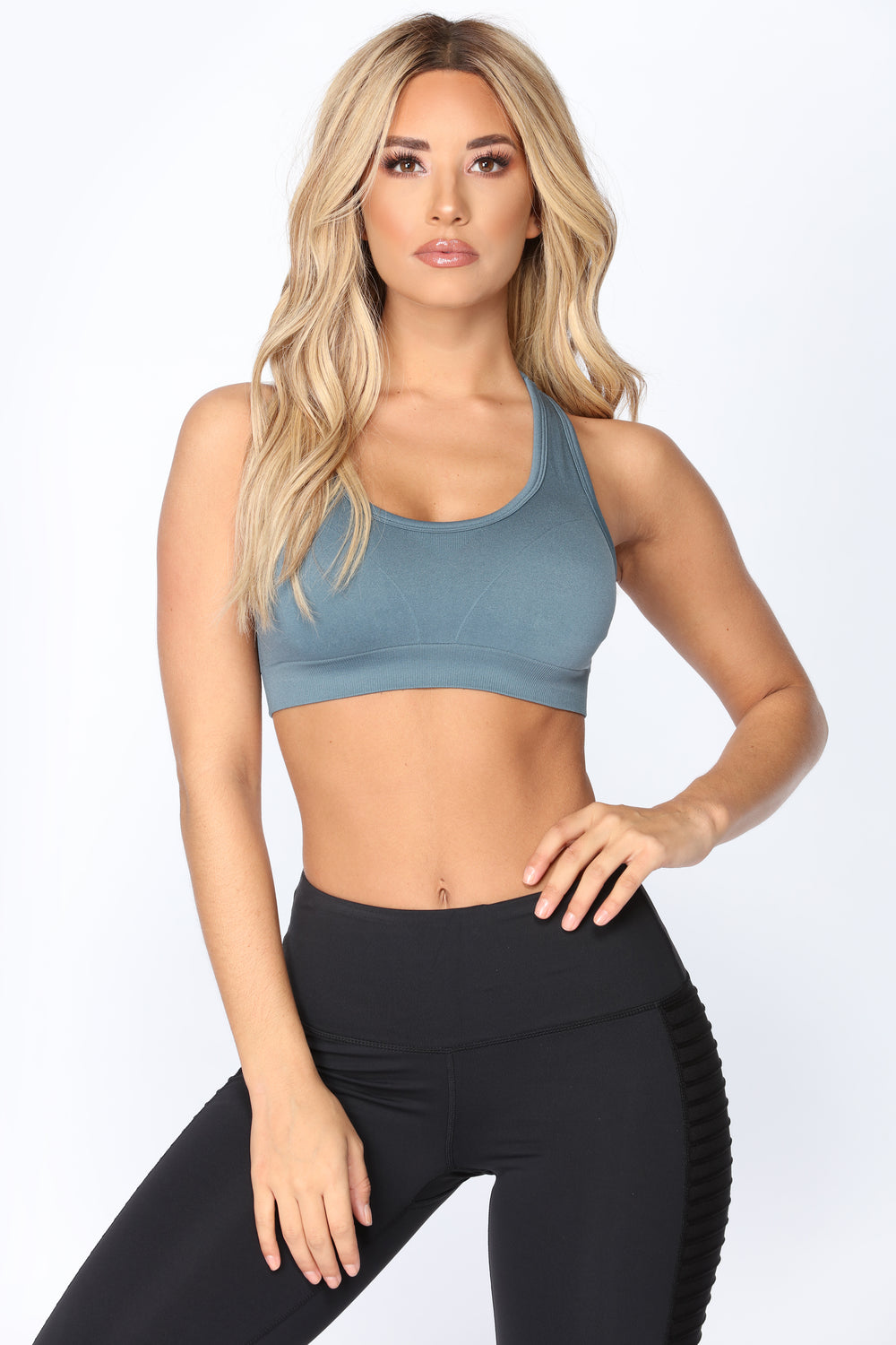 Race You There Seamless Sports Bra - Blue