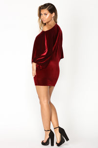 Val Mini Dress - Burgundy Angle 3