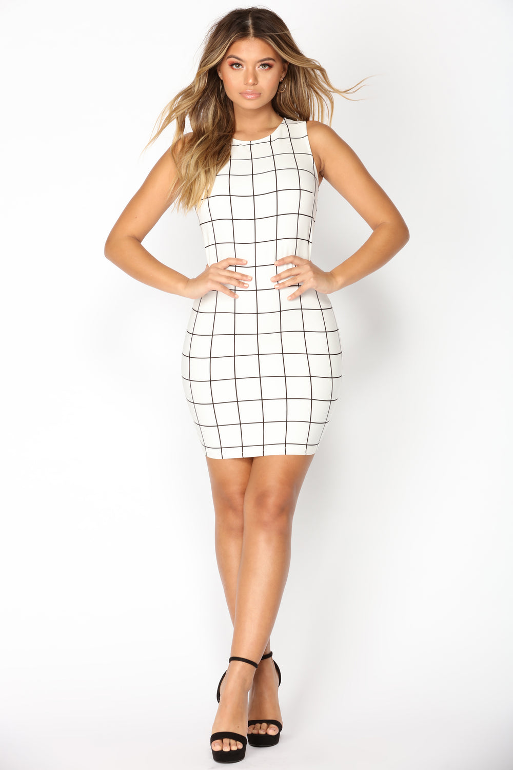 Chip Off The Old Block Dress - White