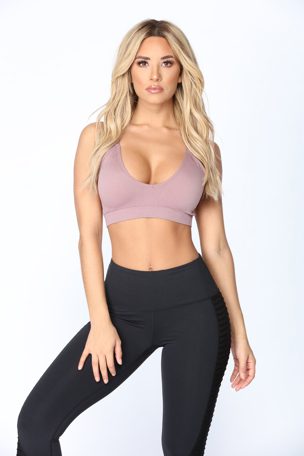 Work Out Seamless Sports Bra - Lavender