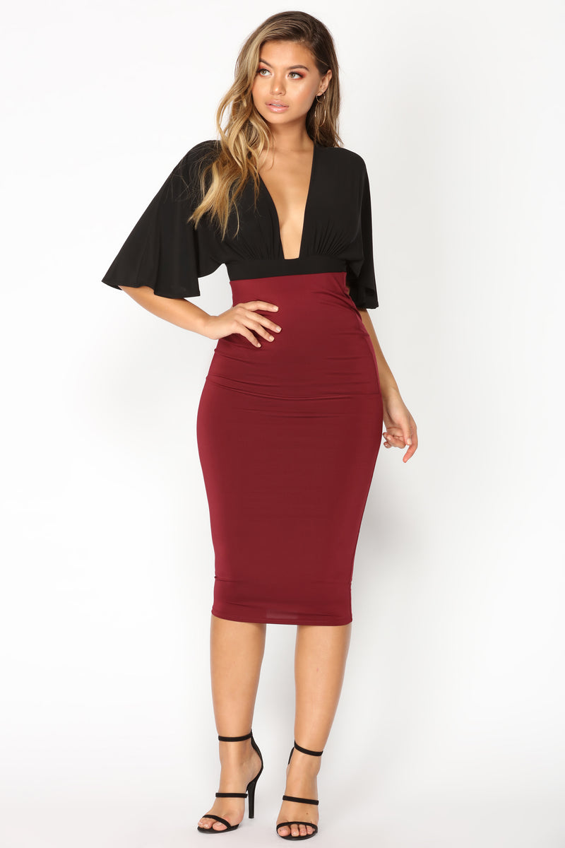 Olive Oil II Skirt - Burgundy