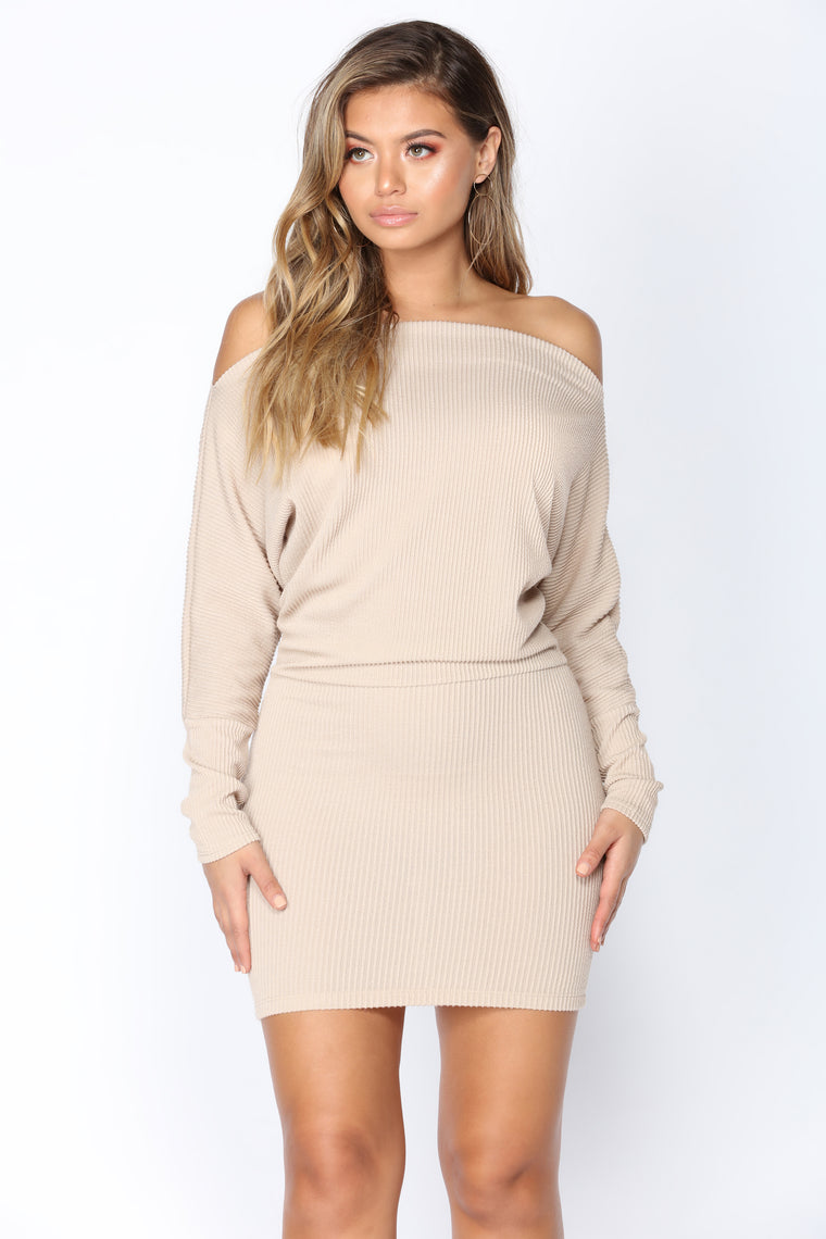 Dolman Daze Mini Dress - Khaki