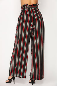 Landi Stripe Pants - Black/Red