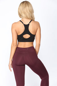 Work Out Seamless Sports Bra - Black