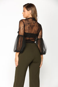 Viera Lace Top - Black