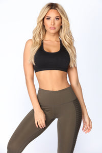 Cool Down Seamless Sports Bra - Black