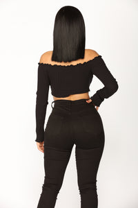 Fionna Off Shoulder Top - Black