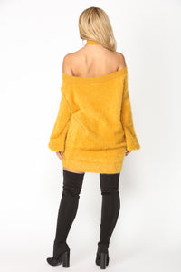Fuzzy Luv Sweater - Mustard