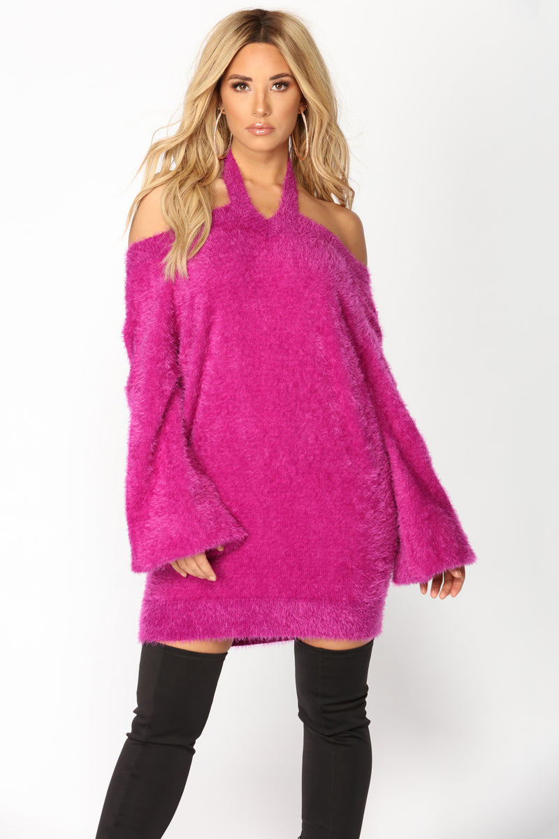 Fuzzy Luv Sweater - Lilac