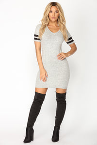 Lyndsey Sweater Dress - Heather Grey