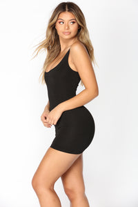 Can I Get An Answer Slipdress Shapewear - Black