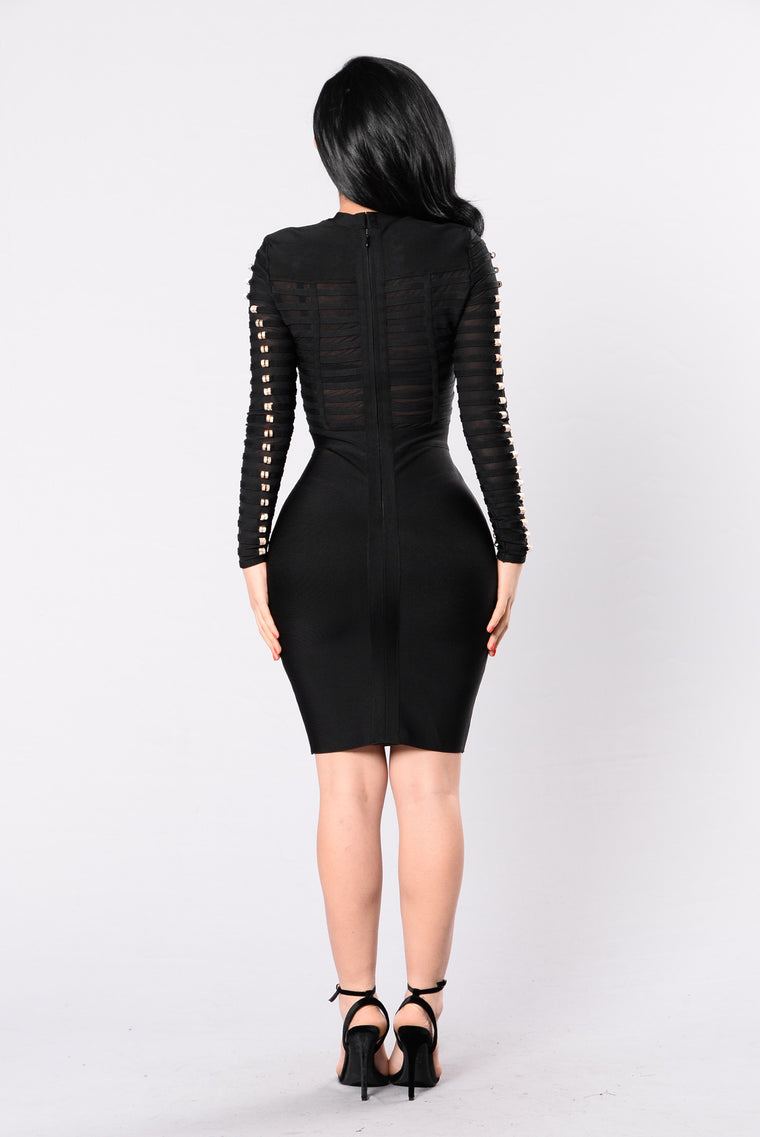 Lac Bandage Dress - Black