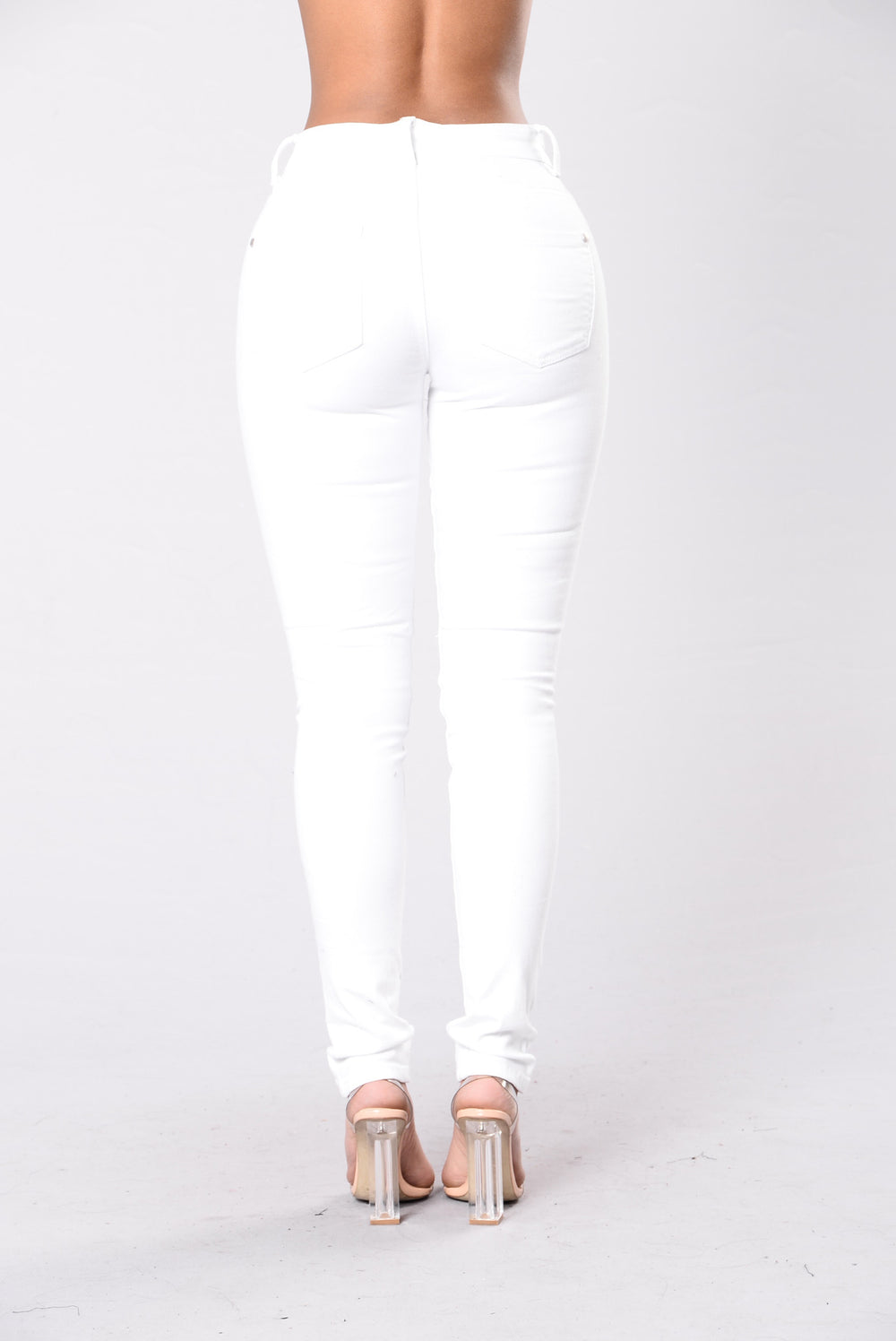 Slow Burn Jeans - White