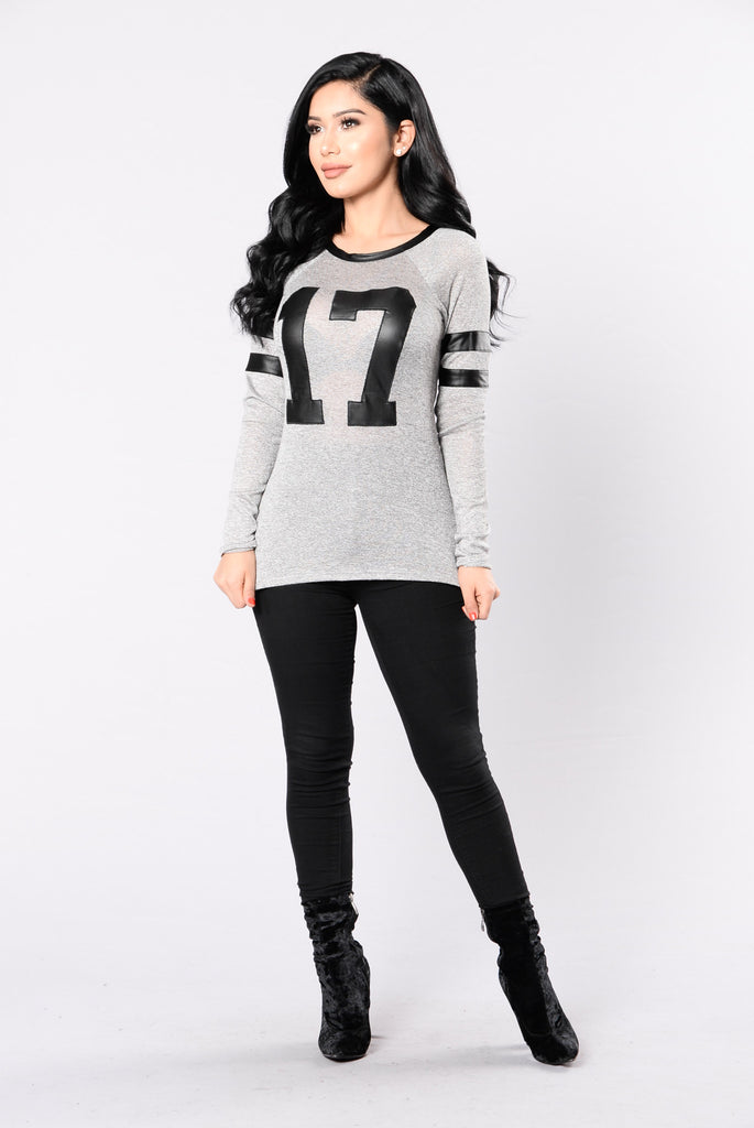 Game Day Top - Heather Grey