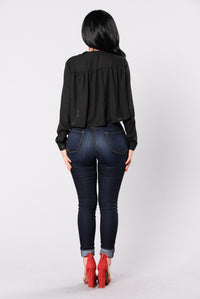 Oh So Foxy Top - Black
