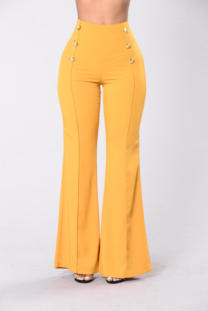 Burning Bridges Pants - Mustard