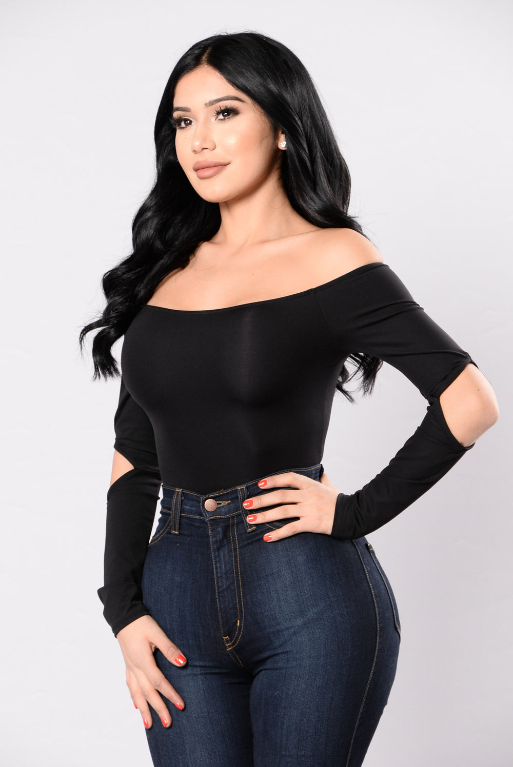Don't Think About It Bodysuit - Black
