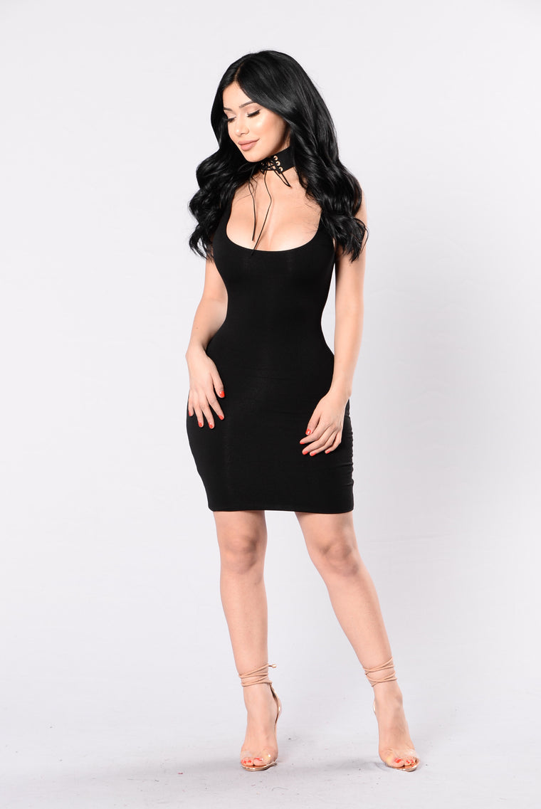Dance On The Moon Dress - Black