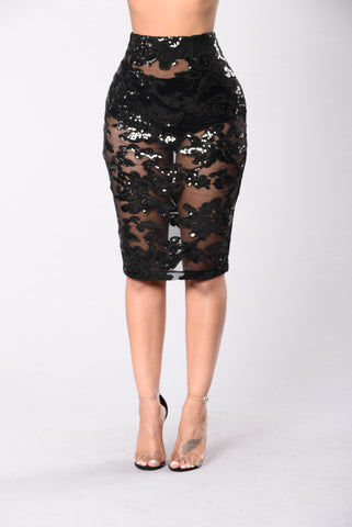 Glam Night Out Skirt - Black