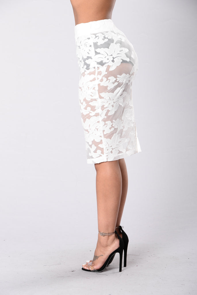 Glam Night Out Skirt - White