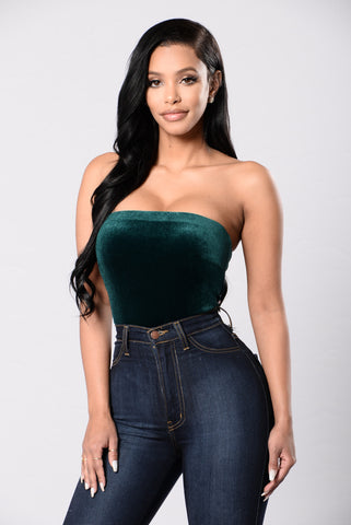 Bittersweet Poetry Bodysuit - Hunter Green