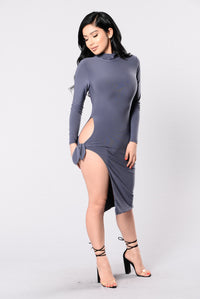 Your Biggest Fan Dress - Grey Angle 4
