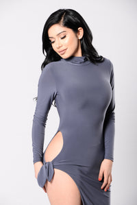 Your Biggest Fan Dress - Grey Angle 1