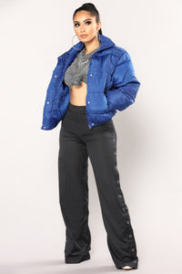 Camila Puffer Jacket - Royal