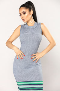 Eunice Knit Dress - Heather Grey