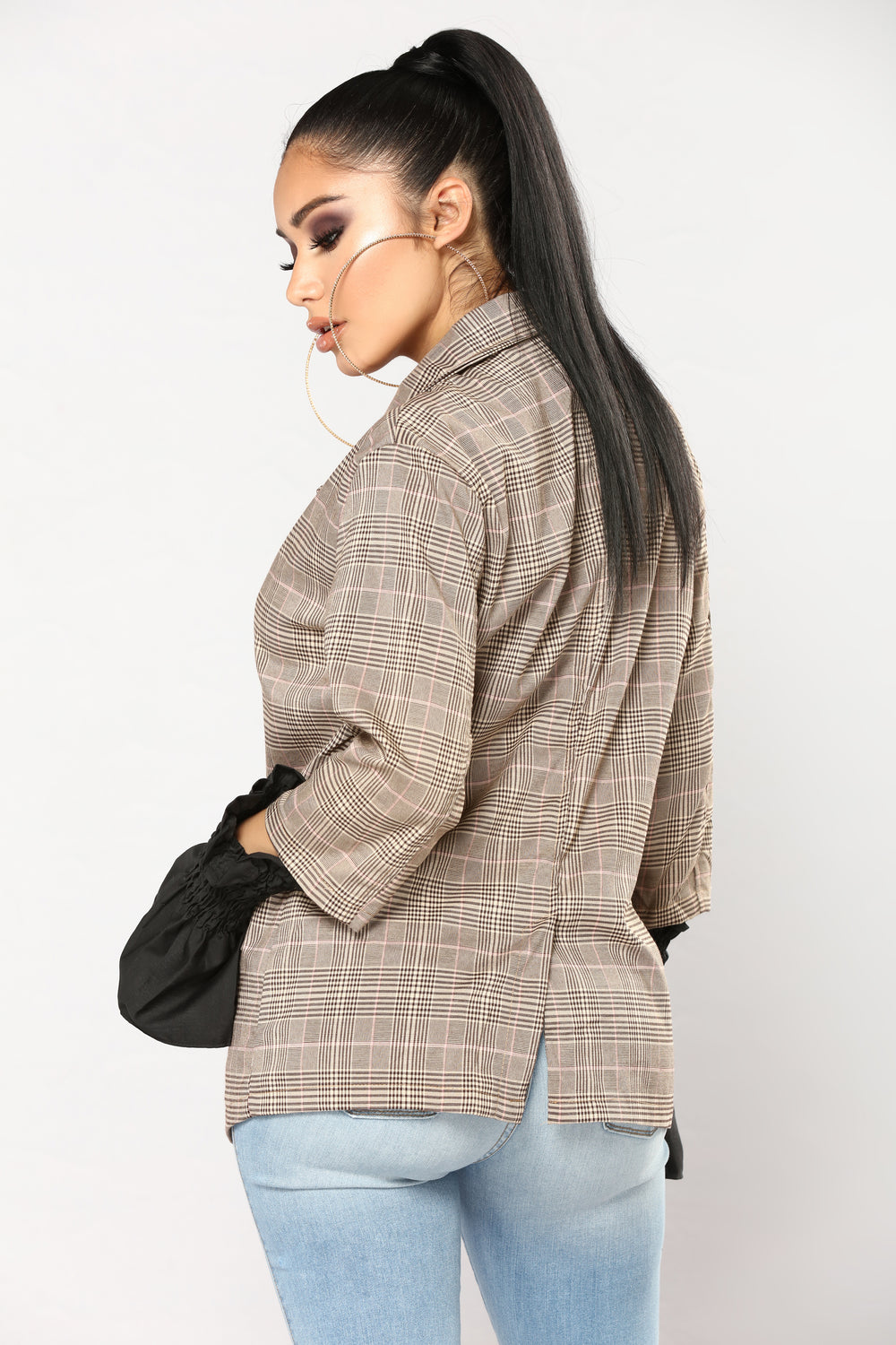20 Questions Plaid Jacket - Brown