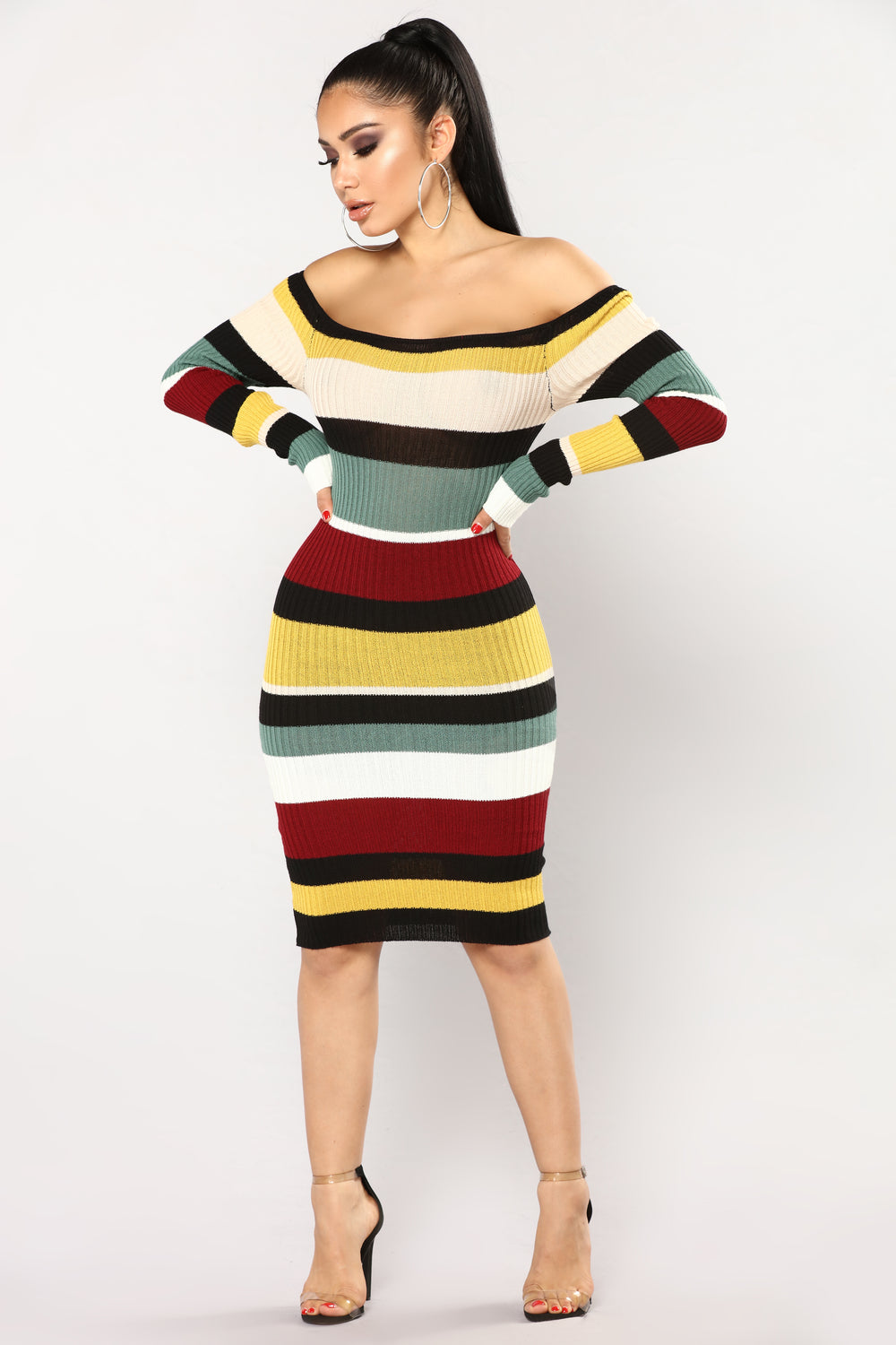 Patsy Off The Shoulder Dress - MultiColor