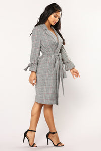 Nancy Plaid Jacket - Black