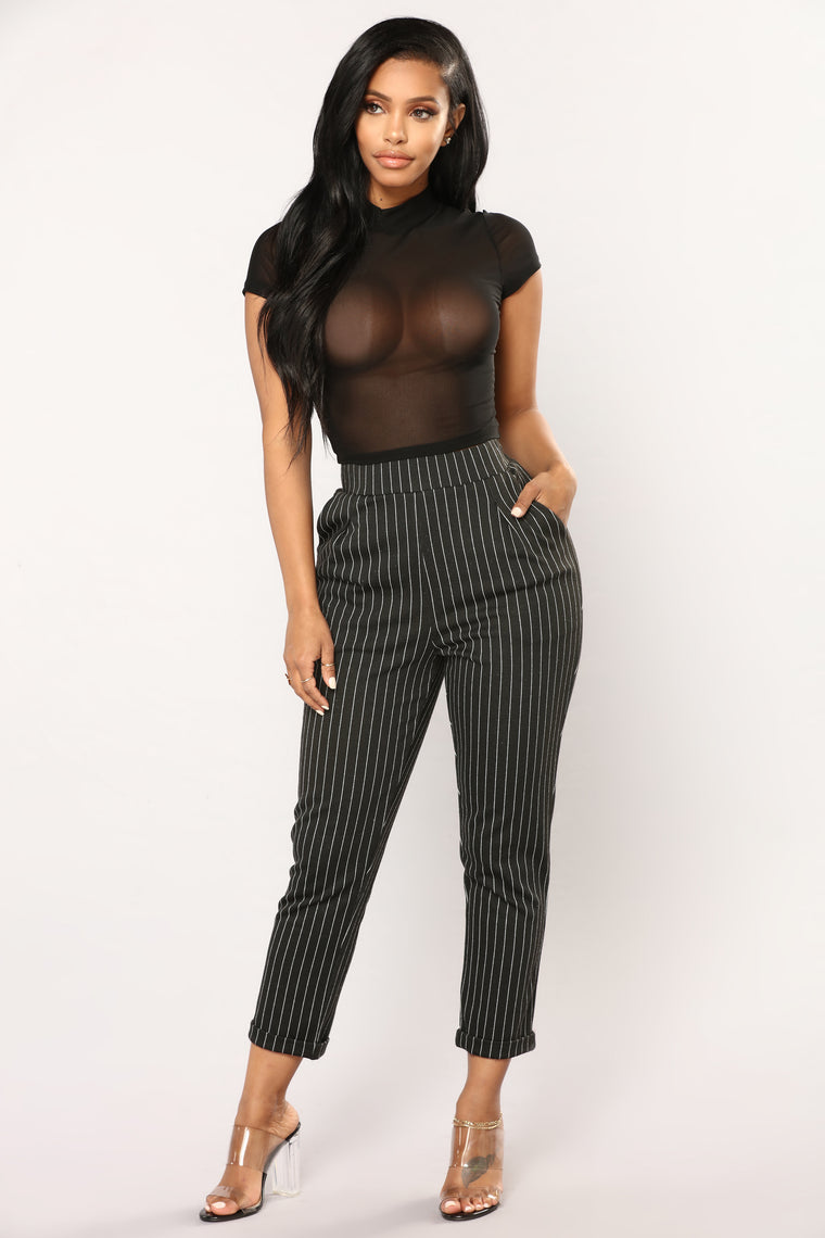 Anything I Want Mesh Top - Black