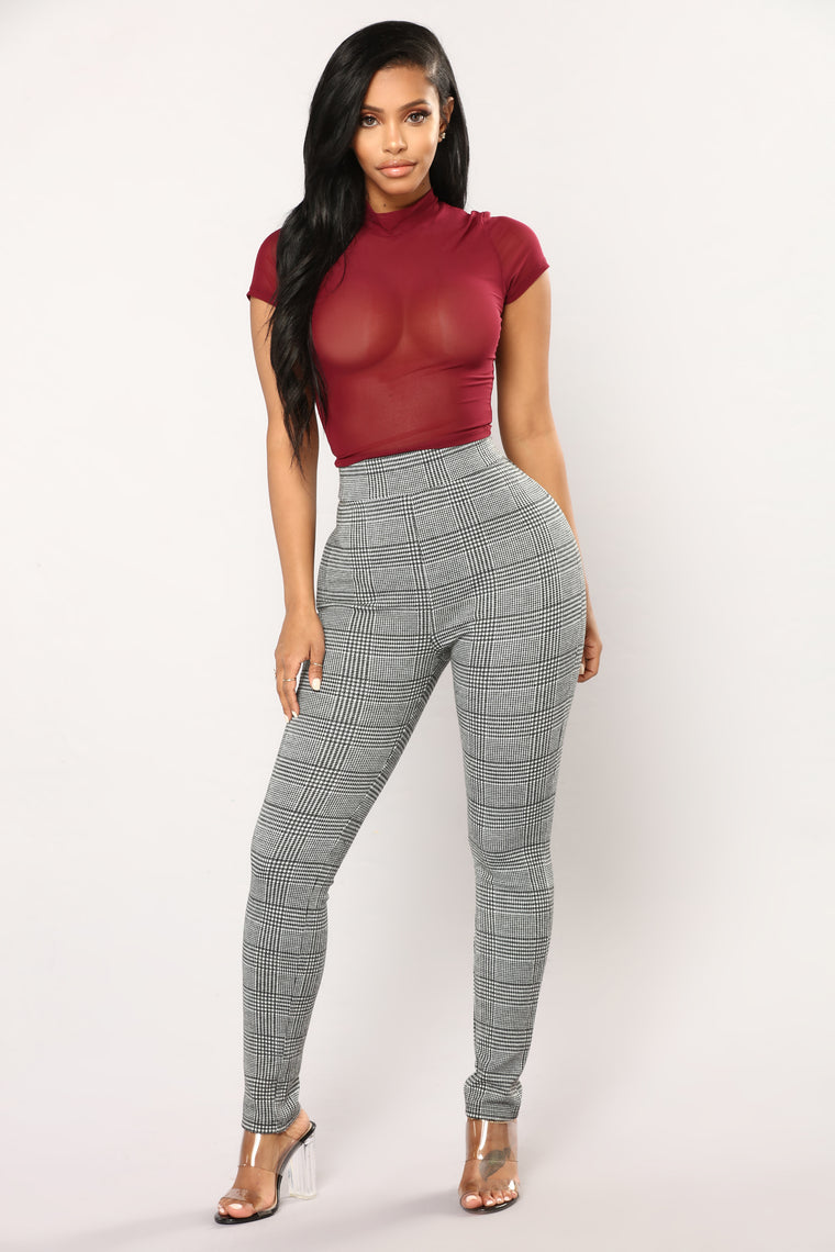 Anything I Want Mesh Top - Wine