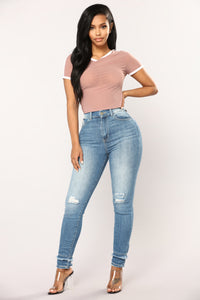 Take You Home Mesh Tee - Mauve
