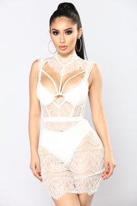 Without A Trace Lace Dress - White Angle 1