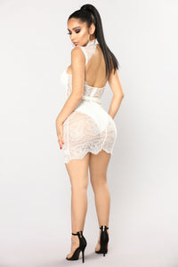Without A Trace Lace Dress - White Angle 4