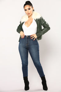 Leah Bomber Jacket - Hunter
