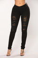 Wreck It Mid Rise Jeans - Black