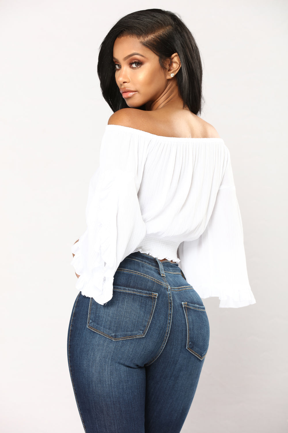 Giselle Off Shoulder Top - Ivory