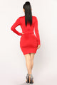 Dare To Mock Me Dress - Red
