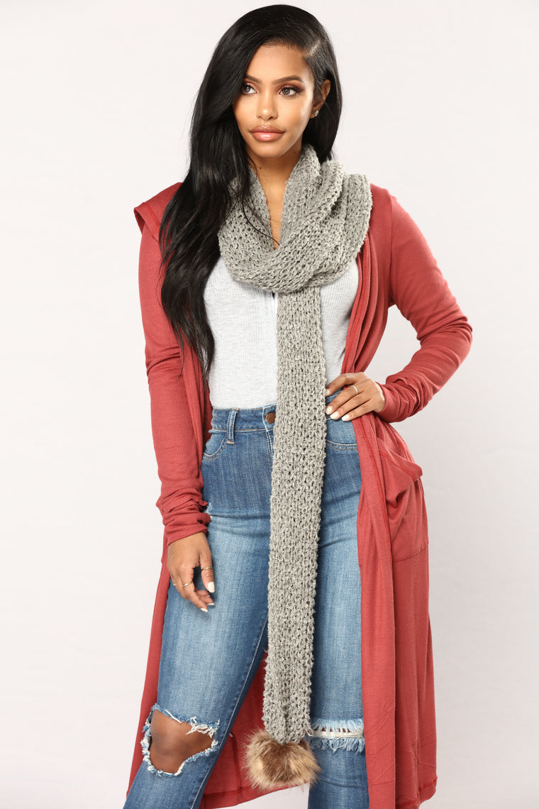 Always Passionate Scarf - Grey