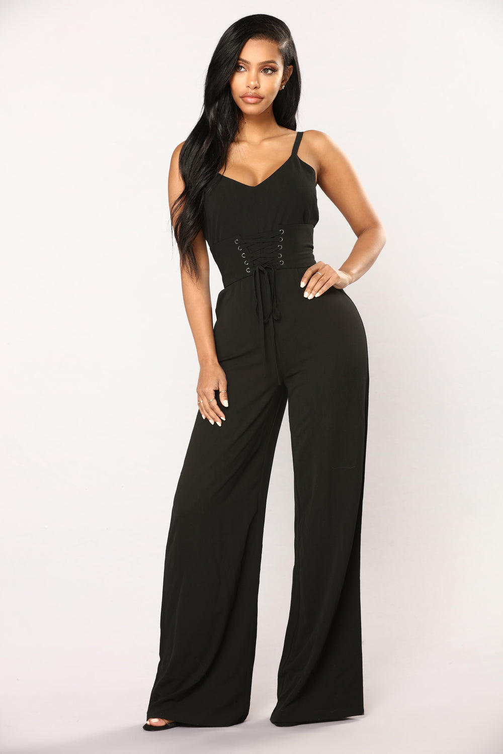 See Ya Later Boy Corset Jumpsuit - Black