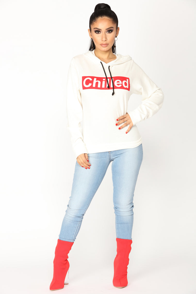 Chilled Hoodie - Ivory
